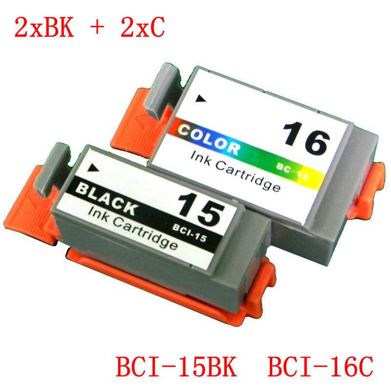 4 PCS BCI-15BK  BCI-16C BCI-15 BCI-16 BCI 15  BCI 16 ink cartridges compatible for canon  i70,i80,pixma ip90,ip90v Free Shipping<br><br>Aliexpress
