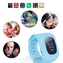 Kids Smart Bracelet WristWatch Q50 Digital Watch GPS Position&Bidirectional Call&SOS Communicator IOS&Android Phone