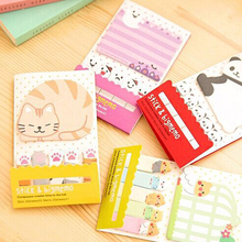 Cute Cat Panda N Times Sticky Notes Memo Pad Paper Sticker Post It Notepad Gift Office Stationery(China)