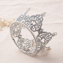 Rhinestone tiara wedding accessories bridal headdress ornaments round crown Bridal tiaras small crown