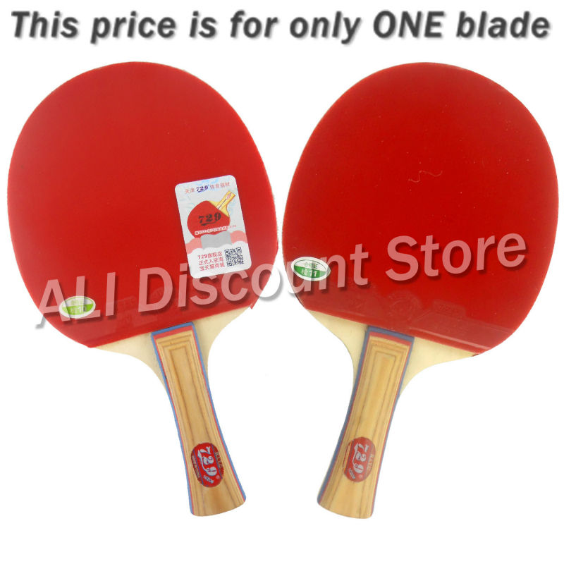 RITC 729 Friendship 1020# Pips-In Table Tennis Racket for Ping Pong Shakehand long handle FL<br>