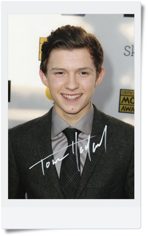 signed Tom Holland autographed  original photo 7  inches freeshipping  4 versions chosen  062017  A<br>
