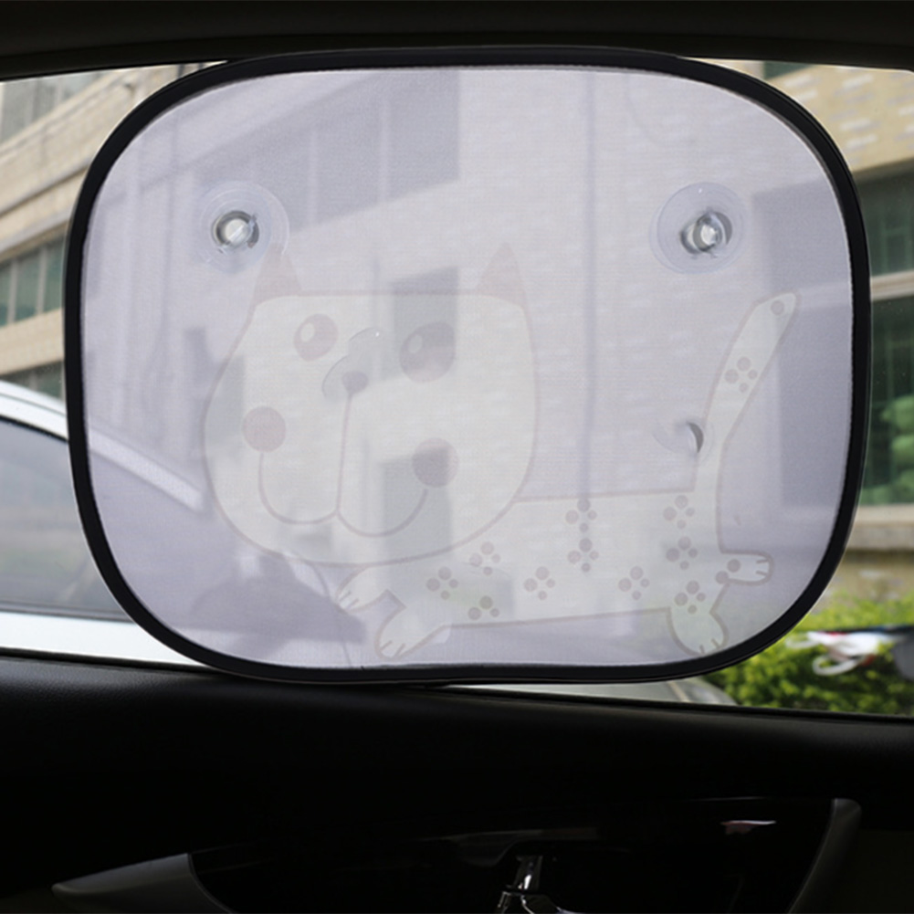 Cartoon Cat Car Sun Shade Windshield Visor Cover Rear Side Window Film Solar Protection Protect Car-styling(China (Mainland))