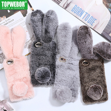 Buy Topwebor Case iPhone X Case 3D Rabbit Ears Furry fluffy iPhone 7 Warm Diamond Phone Case iPhone 6 6S 7 8 Plus Phone Case for $3.40 in AliExpress store