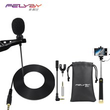 Professional mini microphone clip mikrofon lavalier microphone for recording for mobile computers studio conference microphones(China)