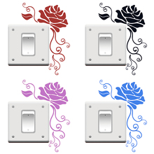 Rose Flowers Switch Sticker Decorative Wall Decal DIY Home Decor for Kids Rooms Art Baby Nursery Bedroom Light Switch