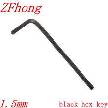 100pcs 1.5mm  Black Allen Wrench (Socket Head Wrench) Hex Key