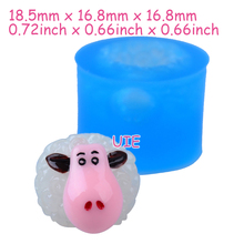 DYL436U 18.5mm 3D Sheep Silicone Mold - Farm Animal Mold Cake Topper, Fondant, Gum Paste, Cookie Biscuit, Resin Fimo Clay, Wax