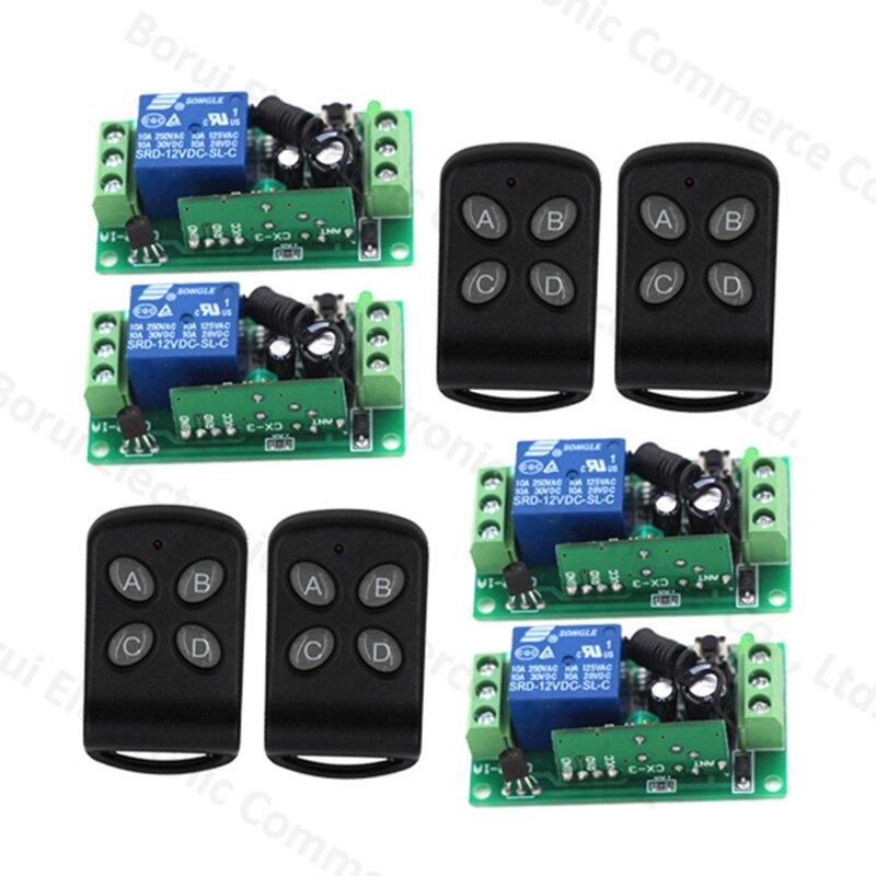 RF Wireless Remote Control Switch DC12V 1CH Wireless Switch Remote Plug 315Mhz<br>