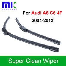 Silicone Rubber Wiper Blades For Audi A6 C6 4F 2004 2005 2006 2007 2008 2009 2010 2011 2012 Windshield Wiper Auto Accessories(China)
