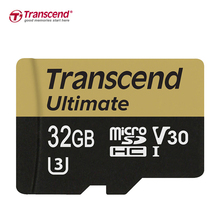 Transcend microSDHC UHS-I U3 up to 95MB/s MLC Memory card 32GB Video Speed Class V30 micro sd card for 4K 3D Full HD videos