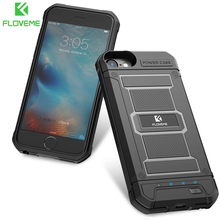 FLOVEME 4200mAh Battery Charger Cases For iPhone 8 7 6s Plus External 3000mAh Armor Battery Phone Case For iPhone 7 6 Power Bank(China)