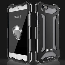 R-JUST GUNDAM Metal Case for iPhone 7 8 X Shockproof Anodizing Aluminum Cover for iPhone X 7 8 Plus 8plus Heavy Dust Case