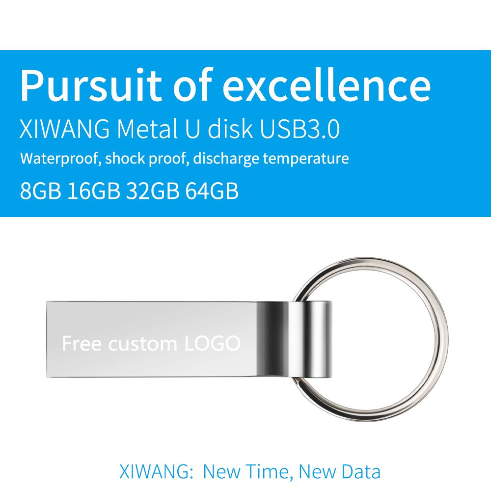 usb flash drive 3.0 silver metal pendrive 128 GB 64 GB 32 GB 16 GB 8 GB 4GB usb memory stick Keychain pen drive Free custom LOGO (7)