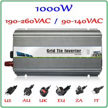 1000W Grid Tie Inverter MPPT Function, 10.5-28VDC Input to 110V/220VAC Pure Sine Wave Output Micro on grid tie inverter 1000W
