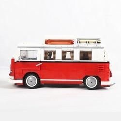 21001 1354 шт T1 Van Camper Buidling блоки совместимы с 10220 с светодиодный свет техника автомобиль игрушки кирпичики для детей