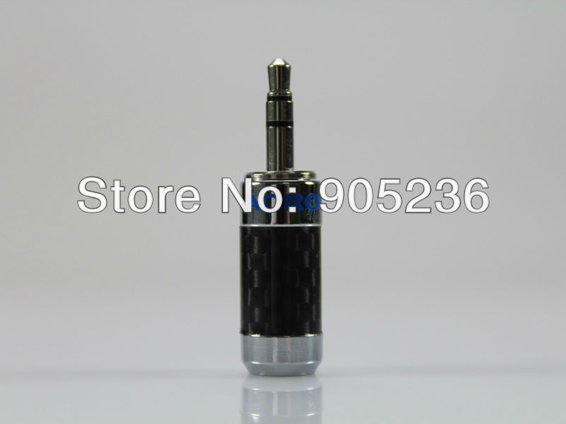 ACROLINK CF 3 5 R Rhodium plated 3 5mm Stereo Jack Male Carbon Fiber Straight Adapter