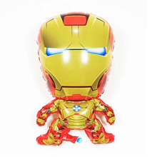 New Cartoon Balloon Shaped Lovely Baby Birthday Party Balloons Favorite Iron Man Balloon Decoration Balloon Kids Gift Toys