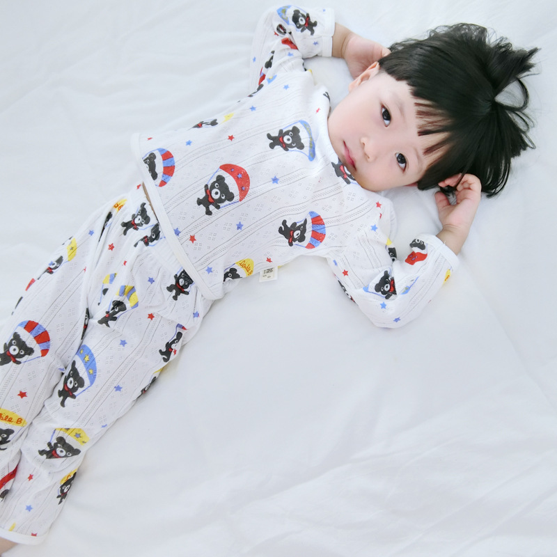 2018 New Boys Pajamas Cotton High Quality Boys Green Dinosaur Pajamas Pyjama Kids Girl Flower Pyjamas Kids Clothing Set