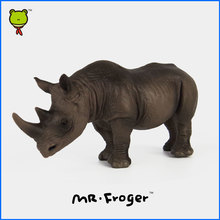 Mr.Froger Africa Rhinos Kids Plastic Wild Animals Toys For Children Zoo Animal Figures Model Set PVC Rhinoceros Toys Figurine