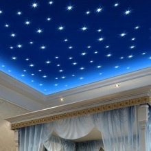 100PCS 3D Glow Star Wall Stickers Glow In The Dark Decal Baby Kids Room Bedroom Decor Modern