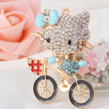 (Mixed Order) Cell Phone Case DIY Charms Alloy Hello Kitty bike Cat Decoration