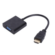 2017 Hot HDMI Male to VGA Female Video Converter Adapter Cable for PC Laptop Tablet 1080P HDTV ps3 project display dvd tv
