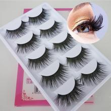 5 pairs/set false eyelash full strip Thick long Fake Eyelashes Natural Curling Wedding Party Eyelash extensions RP2