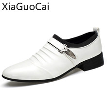 luxury brand cheap men business shoes high quality men dress shoes classical men loafers leather 1017 35(China)
