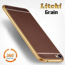 "Luxury Litchi Lines Painting Case For MEIZU Meilan U20 5.5"" Slim Plating TPU Soft Business Style Cover For MEIZU U10 5.0"" Case"