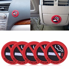 "New 5pcs Rubber "" No Smoking "" Warning Sign Labels Decals Car Vehicle Truck Sticker For Mercedes Benz BMW Audi Toyota Nissan"
