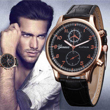 Fashion Hot Sale Mens Clock Retro Design Faux Leather Band Analog Alloy Quartz Wrist Watch Relogio Masculino Sport Watches