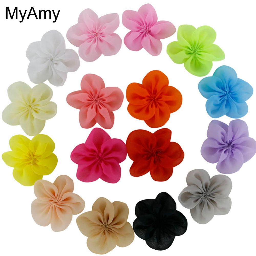 MyAmy wholesale (200 pieces/lot) DIY 2.5 Inch single flowers girls hair accessories boutique hair flowers for kids Free Shipping<br>