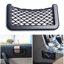 1Pc Hot New Vehicle Storage Mesh Resilient Car Carrying String Bag Nylon Network Pocket Handphone Holder Auto Accessories-D2TB