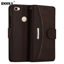 IDOOLS Xiaomi Redmi Note 5A Case Luxury Leather Dirt Resistant Wallet Cover Phone Bags Cases Xiaomi Redmi Note 5A Pro