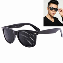 Vision Care Wearable Corrective Glasses Improver Stenopeic Pinhole Pin Hole Glasses Anti-fatigue Eye Protection Oculos De Grau(China)