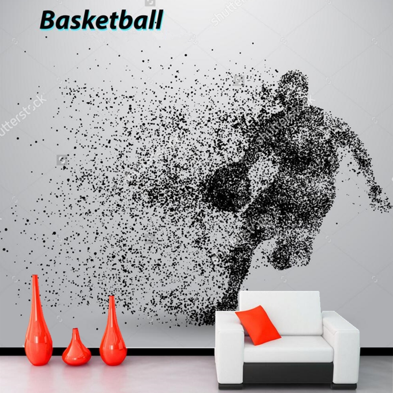 Basketball wallpaper, 3D cartoon murals for childrens rooms Coliseum living room backdrop waterproof wallpaper<br>
