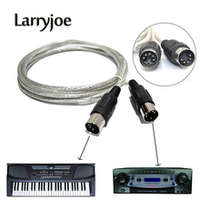 Larryjoe 3.0m / 10ft MIDI Extension Cable 5 Pin Plug Male to Male Connector Silver for MIDI devices