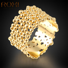 ROXI Top Gold Color Rings For Women Gift New Fashion Jewelry Women Girl's Wedding Rings Wedding Vacation Gift Body Bijoux