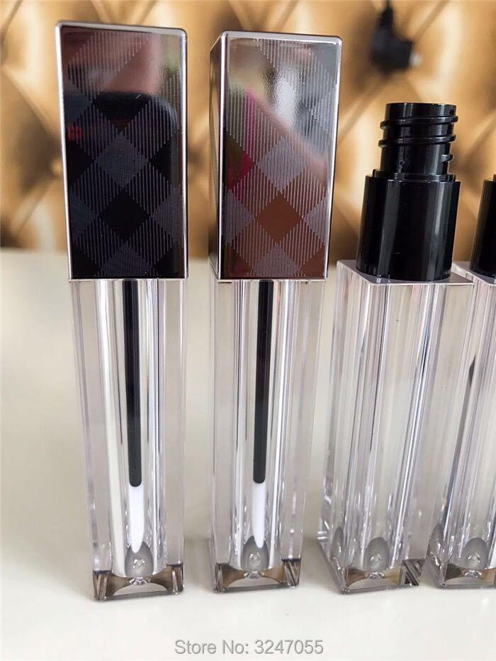 5ML 20pcs 50pcs Clear Square Empty Liquid Lipstick Tube, DIY Plastic Elegant Lip Gloss Bottle, Classic High-end Lip Beauty Tools<br>