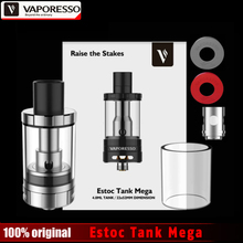 Original Vaporesso Estoc Tank Mega 4ml Top Fill Botoom Airflow Control E Cigarette Atomizer with EUC SS and EUC Clapton Coil