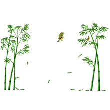 3D Wall Stickers Chinese Traditional Green Bamboo Sticker Home Decoration Accessories TV Wall Background Living Room