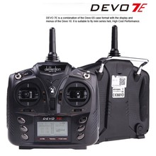 F18519 Walkera DEVO 7E 2.4G 7CH DSSS Radio Control Transmitter for RC Helicopter Airplane Model 2 Mode 1(China)