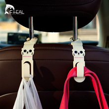 FHEAL 2pcs Car Back Seat Hooks Headrest Hanger Cartoon Hook Holder For Bag Purse Grocer(China)