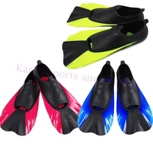 Adult Flexible Comfort Swimming Fins Short Swimming Snorkeling Foot Profession Diving Fins Short Flippers for  Water Sports