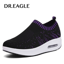Buy DR.EAGLE Women's Walking sports shoes Height Increasing breathable wedges Platform woman sneaker summer mesh sports swing shoe for $22.97 in AliExpress store