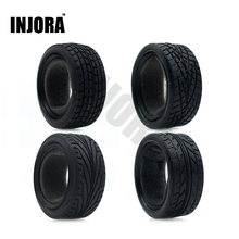 4Pcs/Set Rubber Tyre Wheel Tire for 1/10 RC On Road Car Traxxas HSP Tamiya HPI Kyosho RC Car