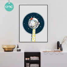 Giraffe in outer space Canvas Art Print Poster, Wall Pictures for Home Decoration, Wall Decor DE008(China)