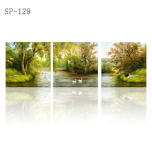 Modular picture scenery canvas painting on beautiful woods triptych HD canvas printing oil painting kids room decoration nordic
