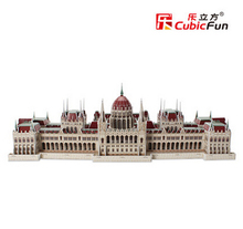 3D paper puzzle diy educational toys large puzzle famous buildings over the world Hungarian Parliament